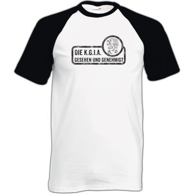 Motiv: TShirt Baseball - Sprüche - KGIA - Gesehen und genehmigt