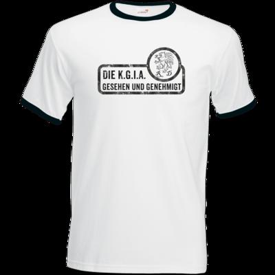 Motiv: T-Shirt Ringer - Sprüche - KGIA - Gesehen und genehmigt