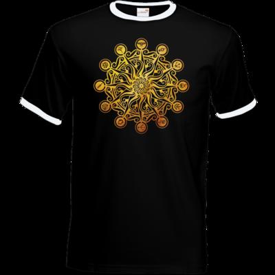 Motiv: T-Shirt Ringer - Götter - Bund des wahren Glaubens -Symbol
