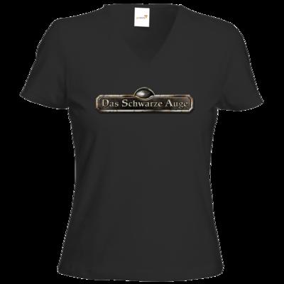Motiv: T-Shirts Damen V-Neck FAIR WEAR - Logos - Schriftzug Das Schwarze Auge