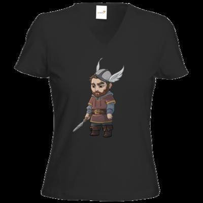 Motiv: T-Shirts Damen V-Neck FAIR WEAR - Let's Plays - Nubor der Schildlose - Chibi