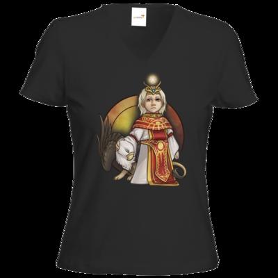 Motiv: T-Shirts Damen V-Neck FAIR WEAR - Götter - Praios - Chibi