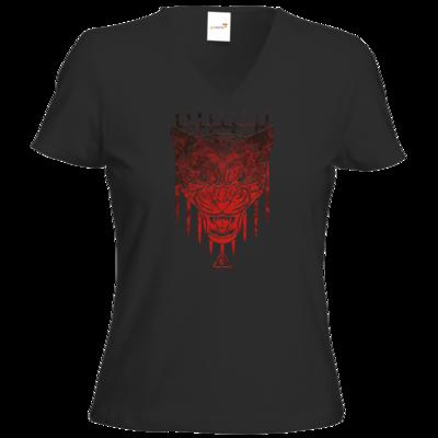 Motiv: T-Shirts Damen V-Neck FAIR WEAR - Götter - Kor - Symbol