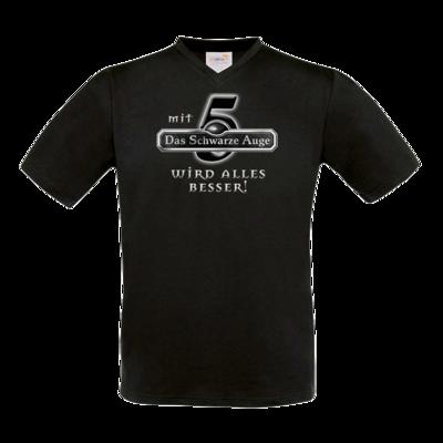 Motiv: T-Shirt V-Neck FAIR WEAR - Sprüche - Mit DSA5 wird alles besser