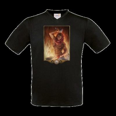 Motiv: T-Shirt V-Neck FAIR WEAR - Götter - Ingerimm