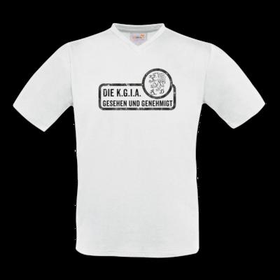 Motiv: T-Shirt V-Neck FAIR WEAR - Sprüche - KGIA - Gesehen und genehmigt