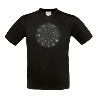 Motiv: T-Shirt V-Neck FAIR WEAR - Götter und Dämonen - Dämonenkreis