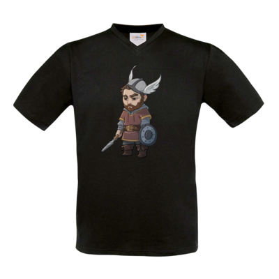 Motiv: T-Shirt V-Neck FAIR WEAR - Let's Plays - Nubor - Chibi