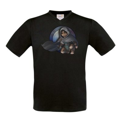 Motiv: T-Shirt V-Neck FAIR WEAR - Götter - Phex - Chibi