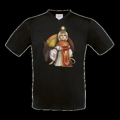 Motiv: T-Shirt V-Neck FAIR WEAR - Götter - Praios - Chibi