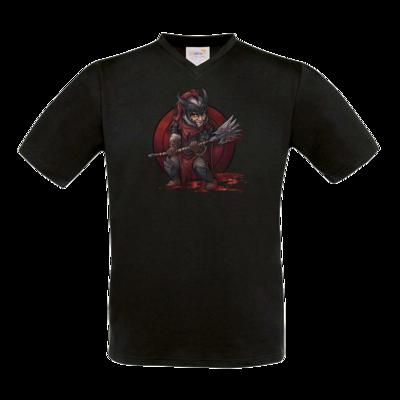 Motiv: T-Shirt V-Neck FAIR WEAR - Götter - Kor - Chibi