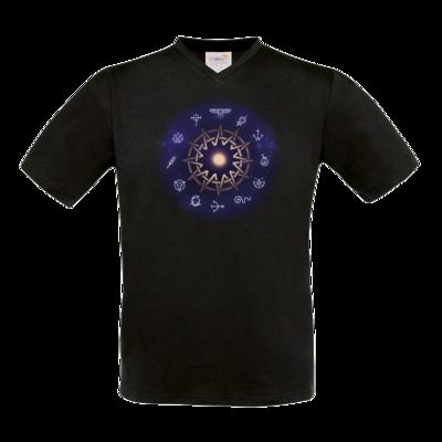 Motiv: T-Shirt V-Neck FAIR WEAR - Götter - Zwölfgötterkreis