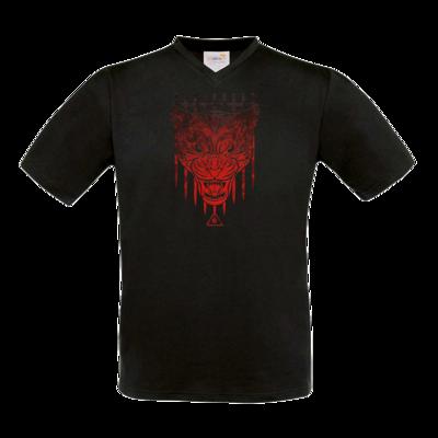 Motiv: T-Shirt V-Neck FAIR WEAR - Götter - Kor - Symbol