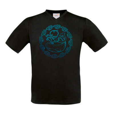 Motiv: T-Shirt V-Neck FAIR WEAR - Götter - Swafnir - Symbol