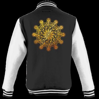 Motiv: College Jacke - Götter - Bund des wahren Glaubens -Symbol