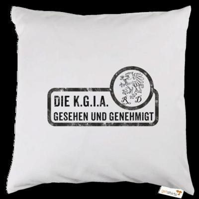 Motiv: Kissen - Sprüche - KGIA - Gesehen und genehmigt