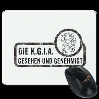 Motiv: Mousepad Textil - Sprüche - KGIA - Gesehen und genehmigt
