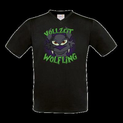 Motiv: T-Shirt V-Neck FAIR WEAR - Vollzeit Wolfling
