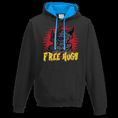Motiv: Two-Tone Hoodie - Free Hugs