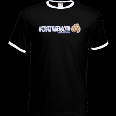Motiv: T-Shirt Ringer - Kampfkunst Lifestyle - Tastaturensohn