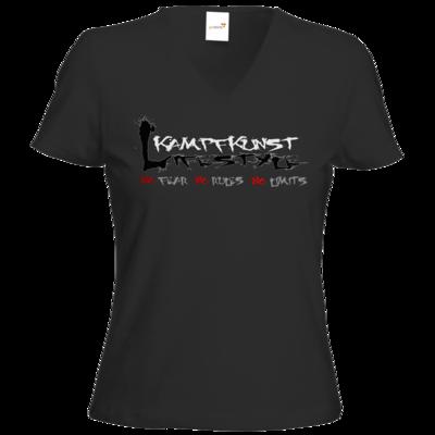 Motiv: T-Shirts Damen V-Neck FAIR WEAR - Kampfkunst Lifestyle - Logo 1