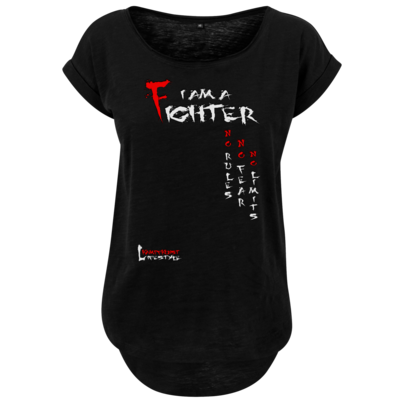 Motiv: Ladies Long Slub Tee - Kampfkunst Lifestyle - I am a Fighter