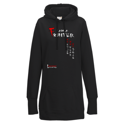 Motiv: Lady Longline Hoodie - Kampfkunst Lifestyle - I am a Fighter