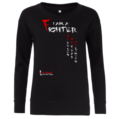 Motiv: Girlie Sweatshirt - Kampfkunst Lifestyle - I am a Fighter
