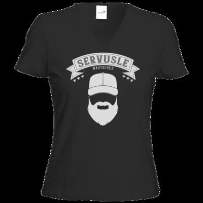 Motiv: T-Shirts Damen V-Neck FAIR WEAR - Servusle