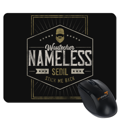 Motiv: Mousepad Textil - Nameless