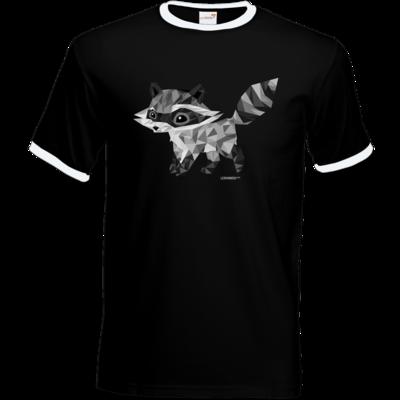 Motiv: T-Shirt Ringer - Raccoonus Triangle