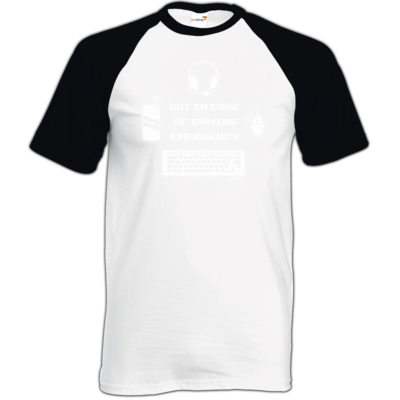 Motiv: TShirt Baseball - Gaming Emergency