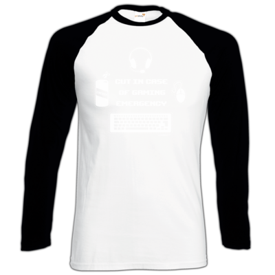 Motiv: Longsleeve Baseball T - Gaming Emergency