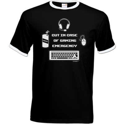 Motiv: T-Shirt Ringer - Gaming Emergency
