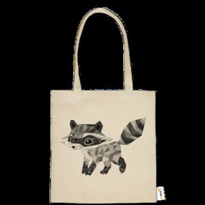 Motiv: Baumwolltasche - Raccoonus Triangle