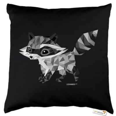 Motiv: Kissen Baumwolle - Raccoonus Triangle