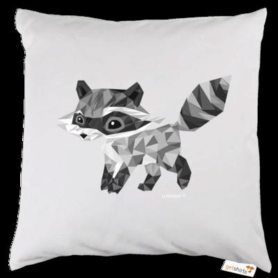 Motiv: Kissen - Raccoonus Triangle