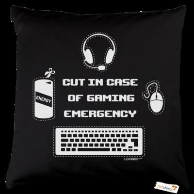 Motiv: Kissen Baumwolle - Gaming Emergency