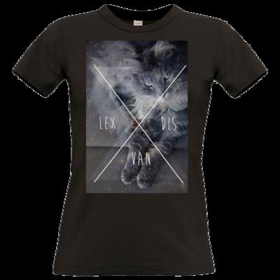 Motiv: T-Shirt Damen Premium FAIR WEAR - Cat Content