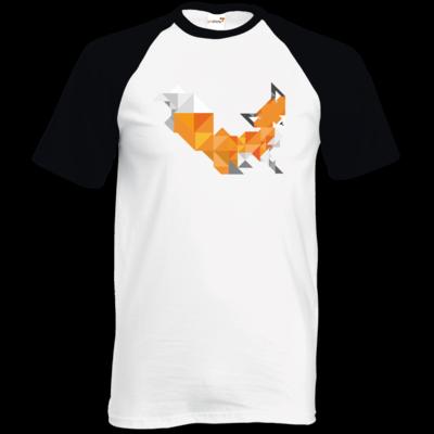 Motiv: TShirt Baseball - Foxy Triangle