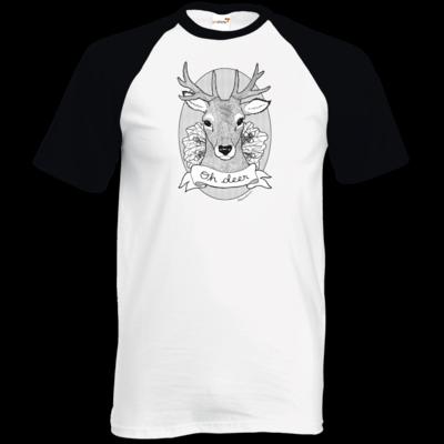 Motiv: TShirt Baseball - Oh Deer