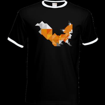 Motiv: T-Shirt Ringer - Foxy Triangle