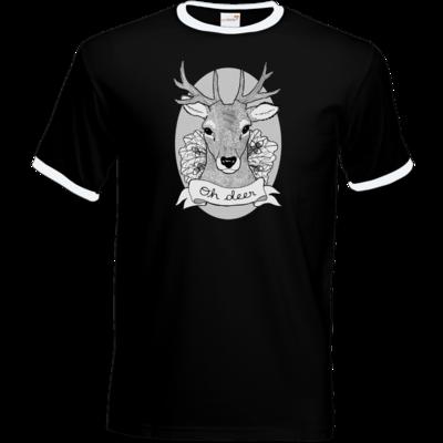 Motiv: T-Shirt Ringer - Oh Deer