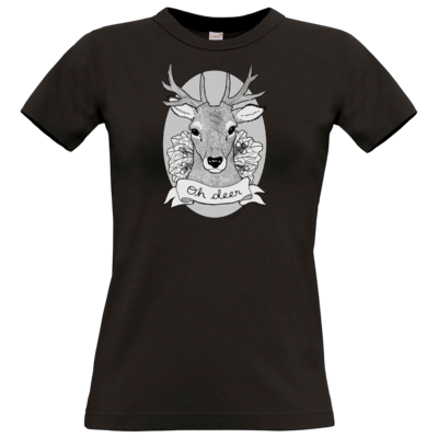 Motiv: T-Shirt Damen Premium FAIR WEAR - Oh Deer