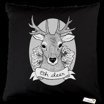 Motiv: Kissen Baumwolle - Oh Deer