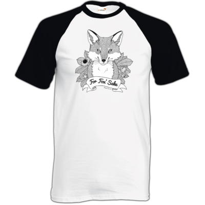 Motiv: TShirt Baseball - For Fox Sake