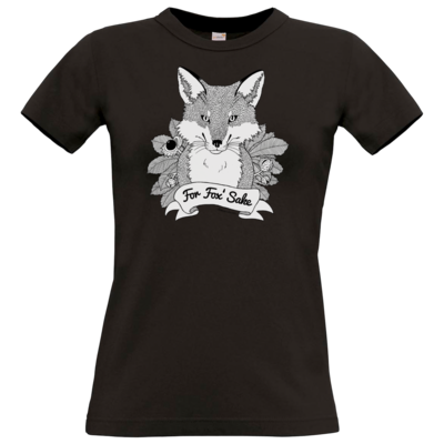 Motiv: T-Shirt Damen Premium FAIR WEAR - For Fox Sake