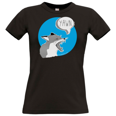 Motiv: T-Shirt Damen Premium FAIR WEAR - What the Fox says