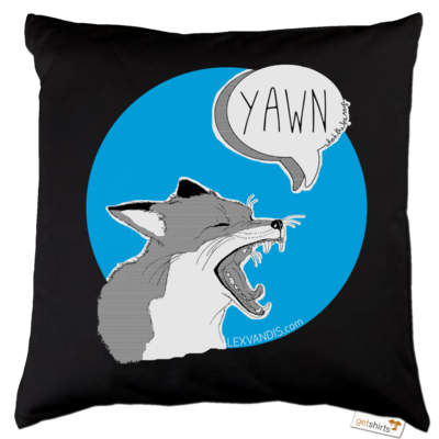 Motiv: Kissen Baumwolle - What the Fox says