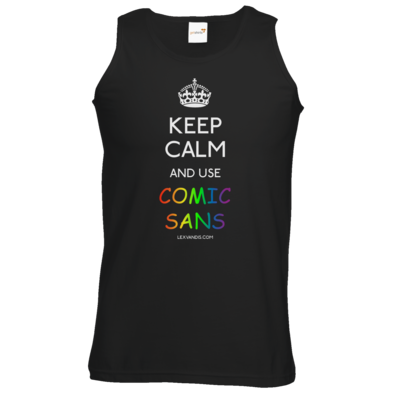 Motiv: Athletic Vest - Keep Calm Comic Sans